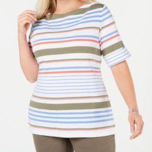 Karen Scott  Lulu Striped Top